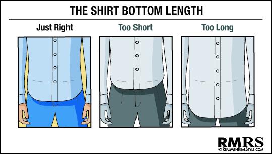 dress shirt bottom length