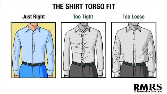 dress shirt torso fit