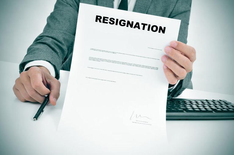 Resignation Letter Sample 辭職信範本