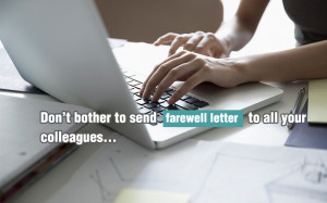 How to present your farewell letter professionally
