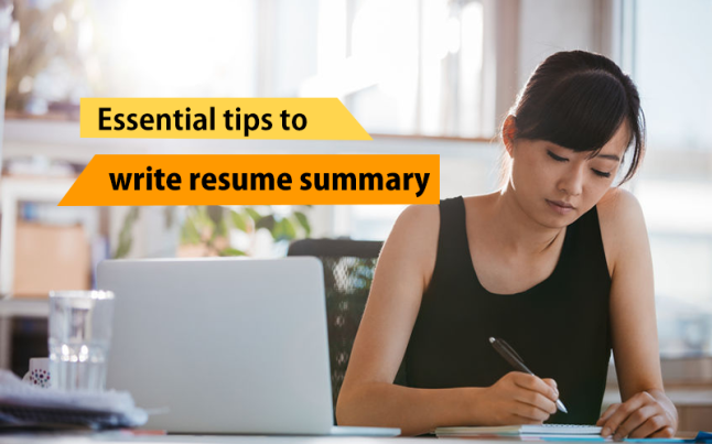 how to write a resume summay