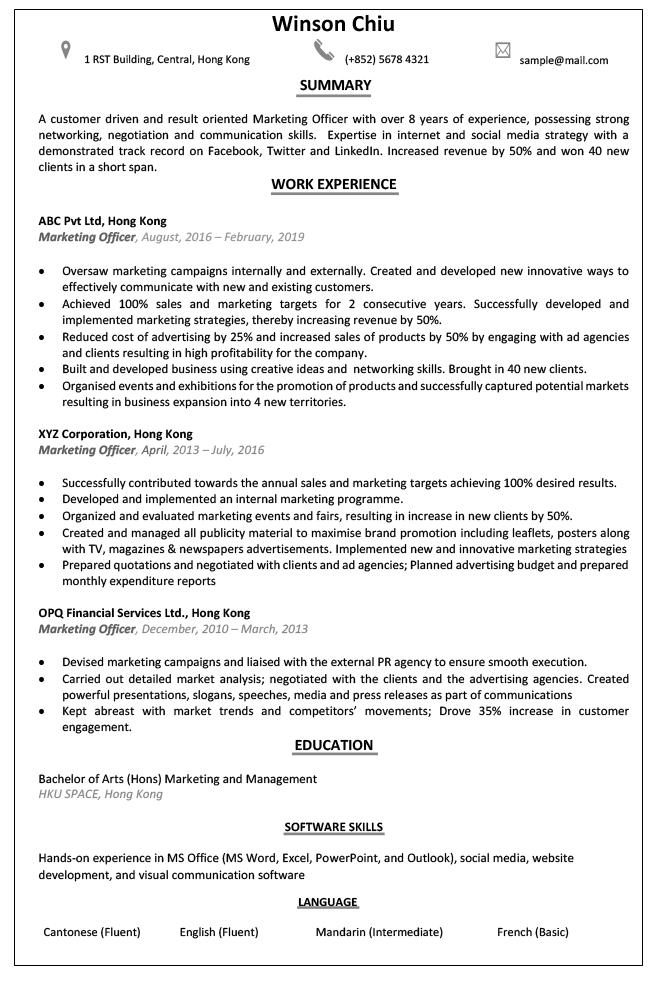 CV-sample-marketing-officer