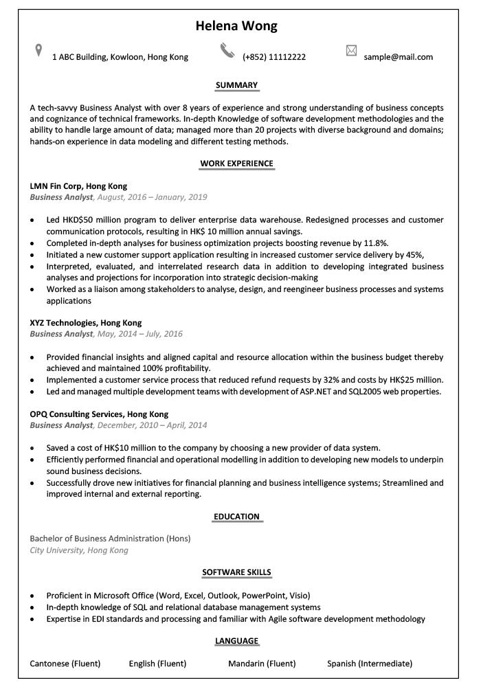 cv-sample-business-analyst