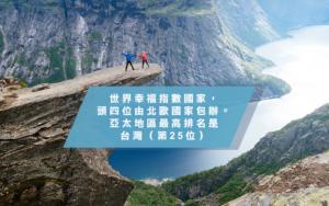 世界幸福指數-芬蘭蟬聯第1-香港位居76位