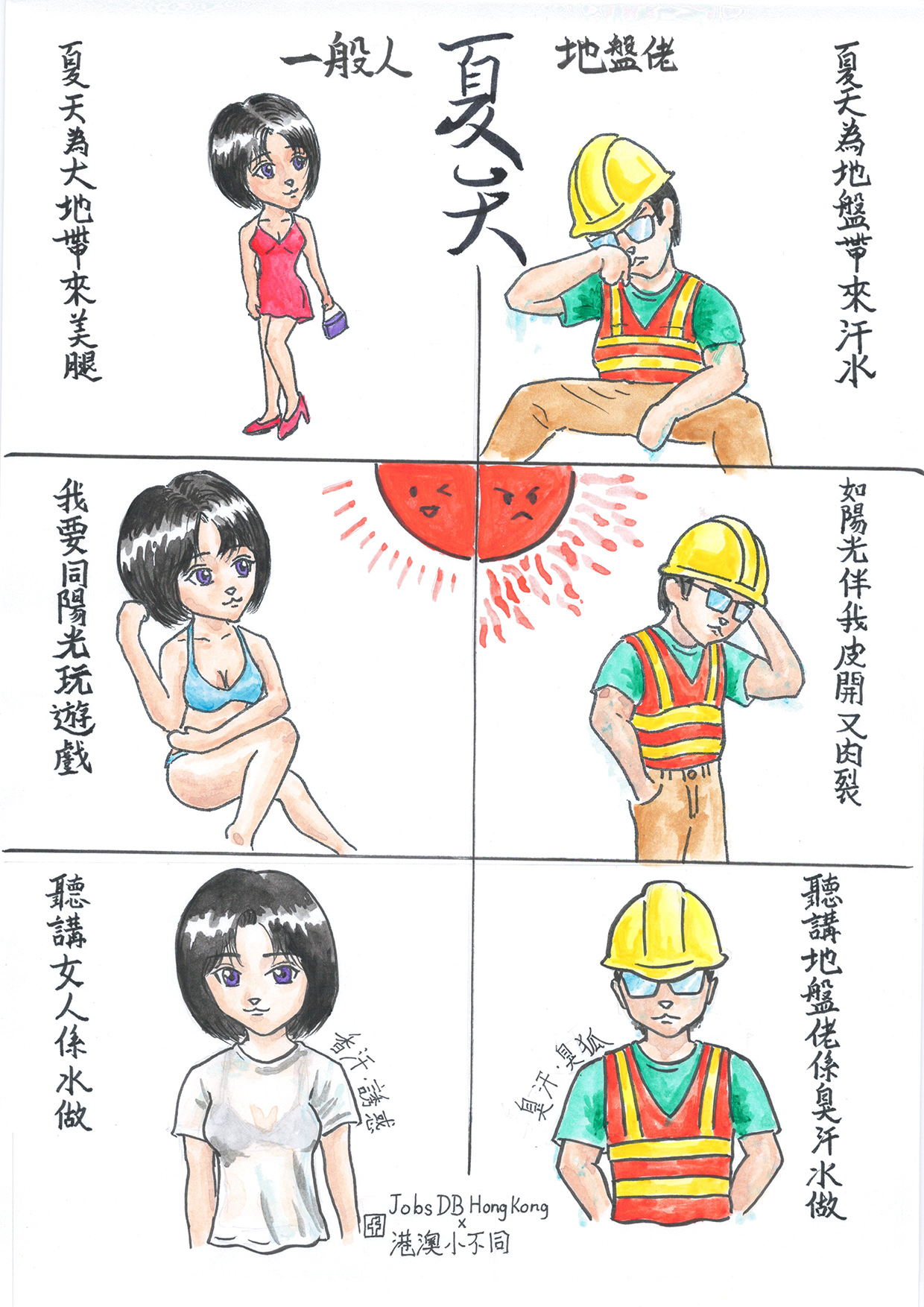 地盤佬日誌:夏天,為地盤佬帶來汗水