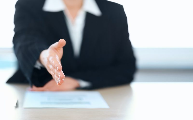 Introduction - Cropped image of a business woman offering you a handshake