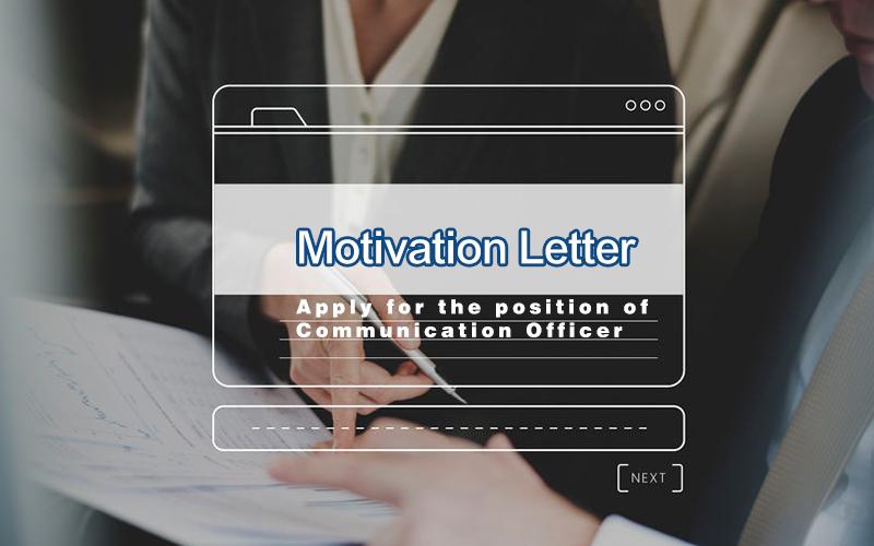 Motivation Letter- Communication Officer for an NGO