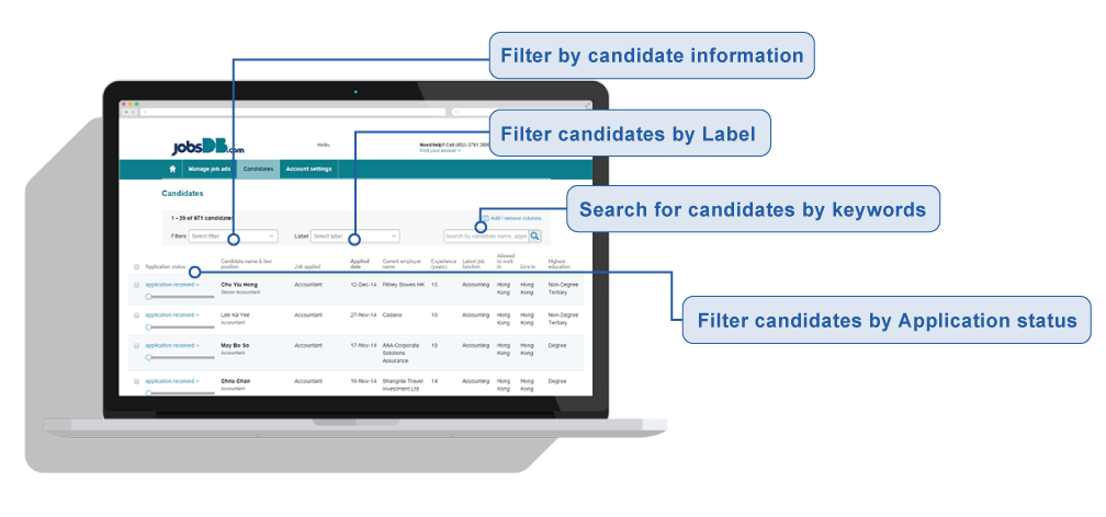 How to short list candidates