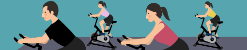 Enjoy a free indoor-cycling class with your HR friends at Friday night