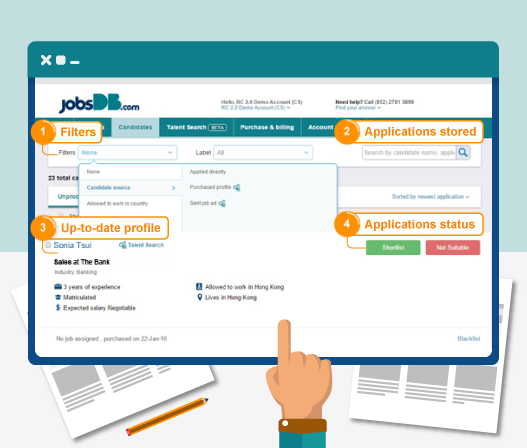Manage candidate applications easily